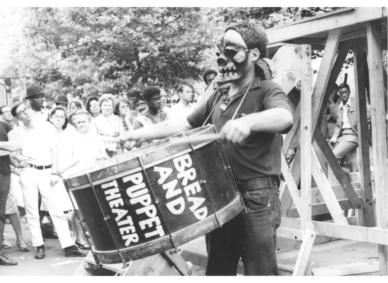 Bread & Puppet Theater archival photos, 1960s–early 1970s